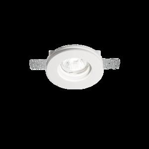 Гипсовый встраиваемый светильник под штукатурку SAMBA ROUND D60