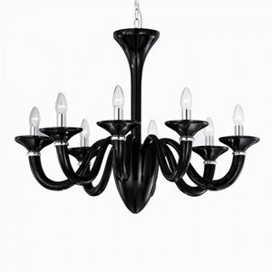 Люстра Ideal Lux WHITE LADY SP8 NERO 20518